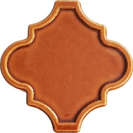 12x12 Ottoman Rölyefli Arabesk Karamel Çini Karo Seramik