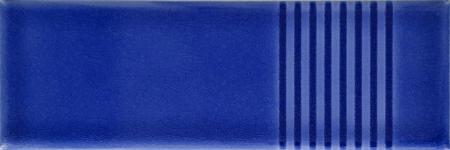 7x21 Cm Çizgili Kobalt Desenli Çini Seramik karo