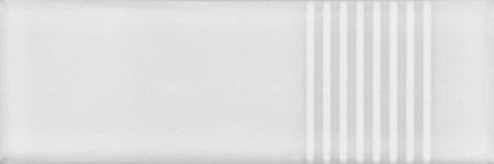 7x21 Cm Çizgili Beyaz Desenli Çini Seramik karo