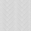 7x21 Cm Düz Beyaz Desenli Çini Seramik karo