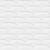 7x21 Cm Elips Beyaz Desenli Çini Seramik karo