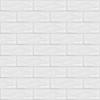 7x21 Cm Gölgeli Beyaz Desenli Çini Seramik karo