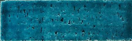 7x22 Cm Tuğla Turkuaz Desenli Çini Seramik karo