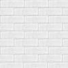 6,5x22 Cm Tuğla Beyaz Desenli Çini Seramik karo